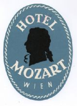 Hotel label luggage labels Austria Mozart #327